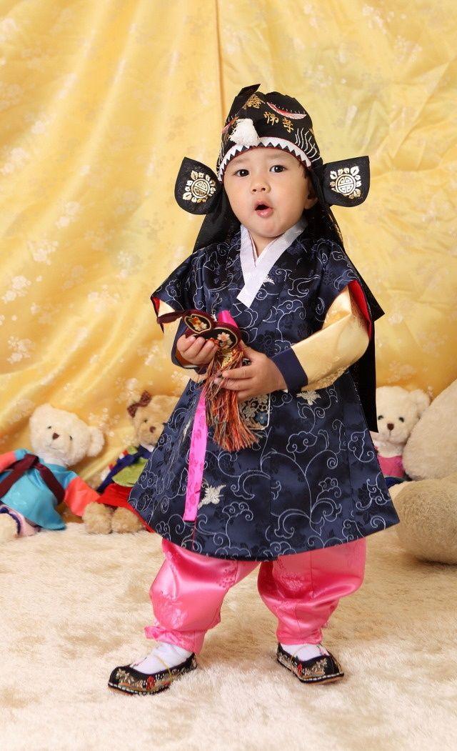 Korean Boy In Traditional Clothing Korea Pinterest