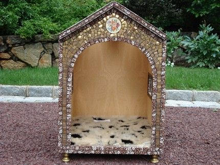2 Really Cool dog houses from:  Anne Rea Designs at etsy
