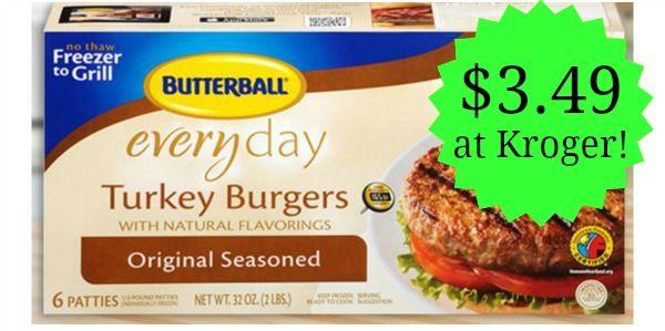 Kroger: Butterball Turkey Burgers Only $3.49