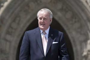 Former prime minister Brian Mulroney leaves Parliament Hill in Ottawa Wednesday June 6, 2012.
