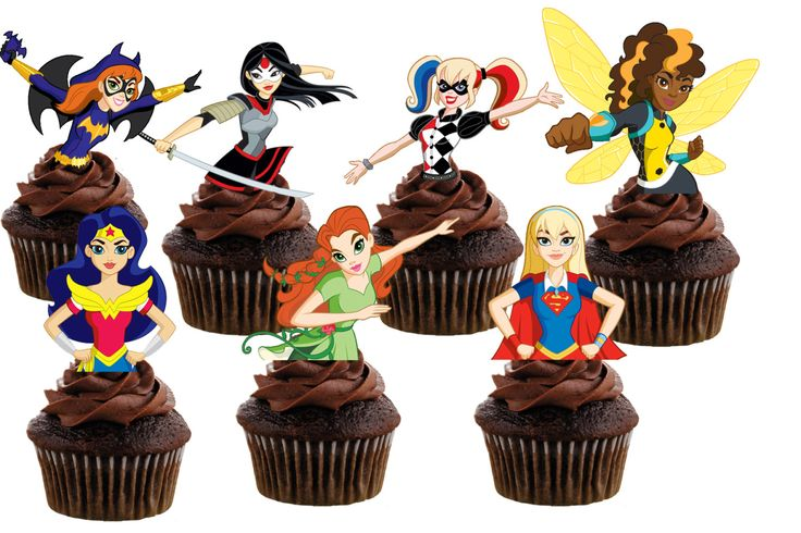 Dc Superhero Girls Cupcake Toppers By Apartytoremember On