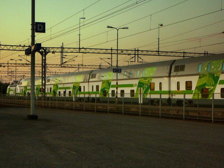 Midsummer train at Kokkola trainstation. InterCity VR. #kokkola