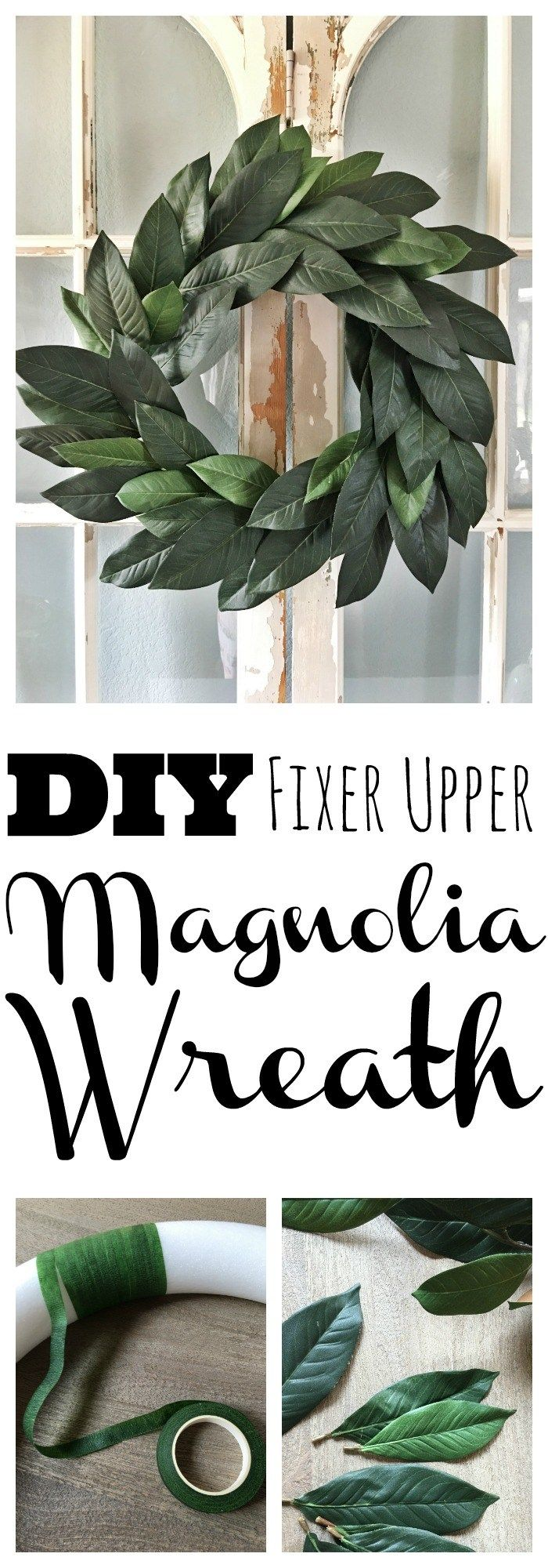 DIY Fixer Upper Magnolia Wreath