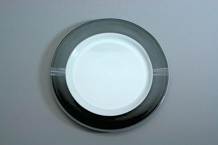 assiette noire blanche porcelaine - Assiette en porcelaine blanche - Comparer les prix avec Cherchons.com