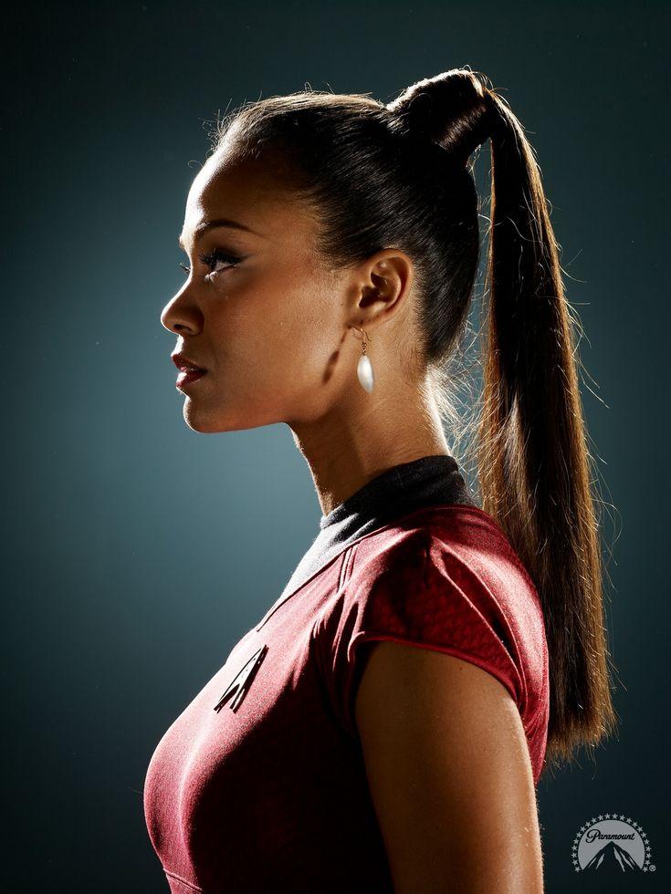 Zoë Saldana as Uhura in Star Trek
