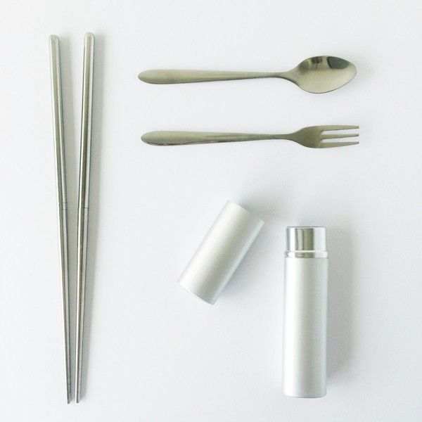 Onyx stainless steel reusable cutlery set 3 piece