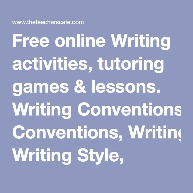 Free online writing lessons?