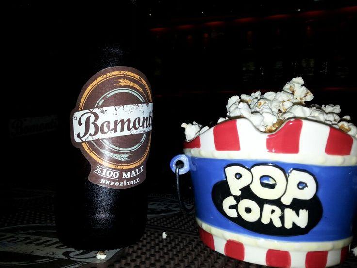 Buz gibi bomonti ve popcorn
