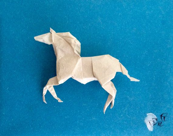 Origami horse by philorigami on Etsy