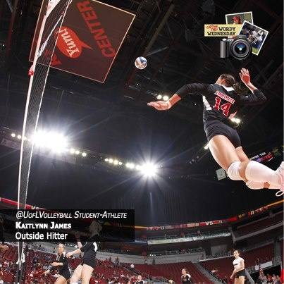 The second giveaway of the day is a University of Louisville Volleyball t-shirt and a signed 2012 season poster by the team. To win, come up with the best caption for the photo below.