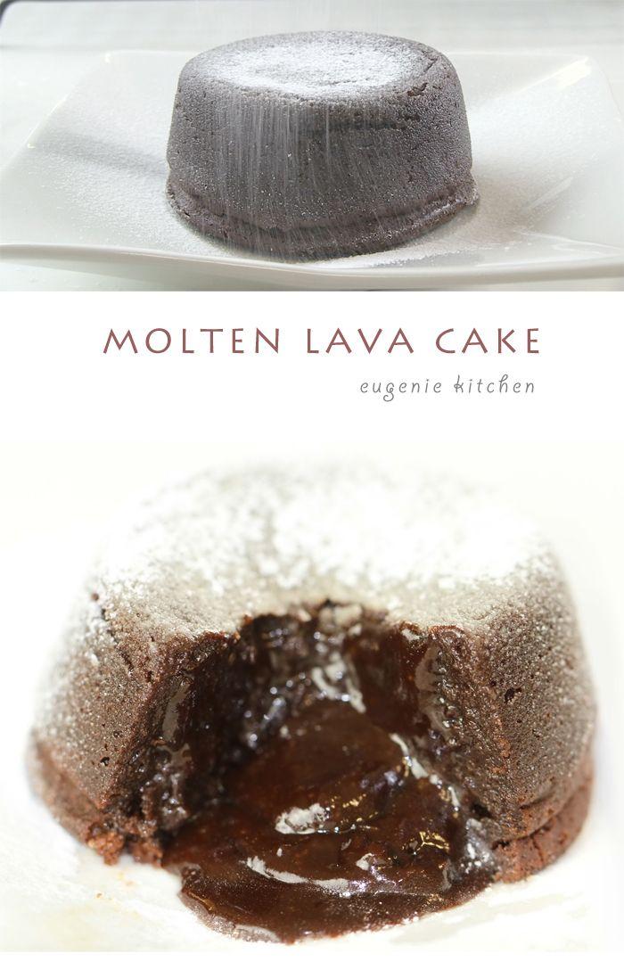Chocolate Molten Lava Cake | Molten Lava Cakes, Lava Cakes and Lava ...