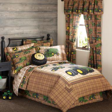 John Deere bedding - maybe a little too far! Haha