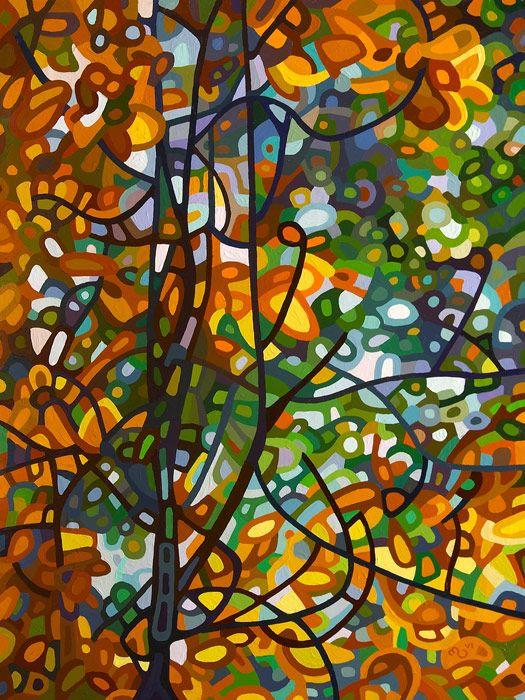 Summer Tree ~ Mandy Budan abstract landscape painting