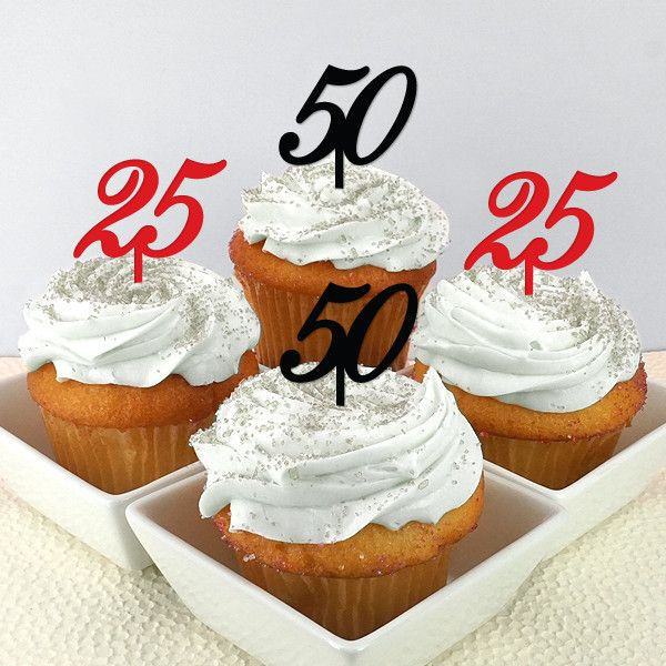 Number Personalized Cupcake Toppers (set of 12)