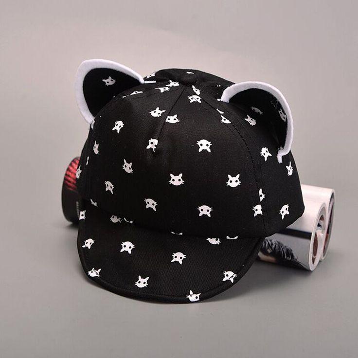 Cat Ears Beard Stars Baby Hat Cartoon Animal Baseball Cap Spring Summer Boy Sun Hats Cotton Caps Girls
