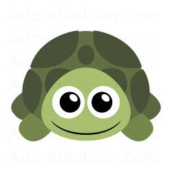 Cute turtle clipart from Adorabletoon.com