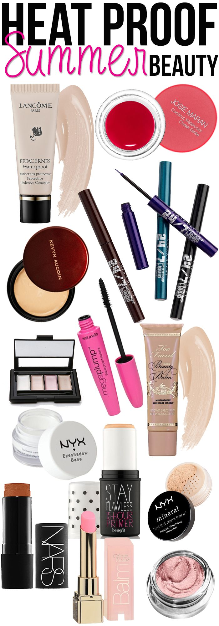 Summer Makeup Beauty Tips & Tricks! Products That won't melt away in the heat!