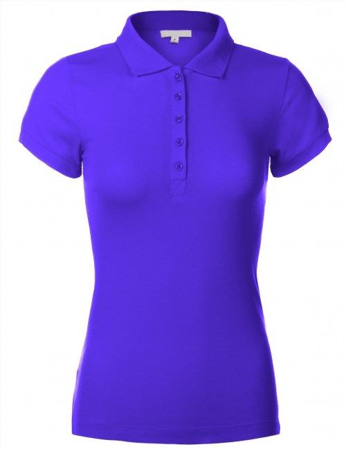 29.99$  Buy now - http://vimnq.justgood.pw/vig/item.php?t=okxfpkc40467 - Craze Woman Cotton Slim Fit Short Sleeve Plain Polo Shirts MJCQE