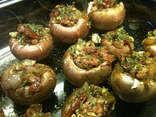 Gevulde champignons