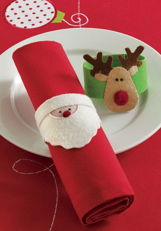 Felt napkins rings - Click image to find more DIY & Crafts Pinterest pins