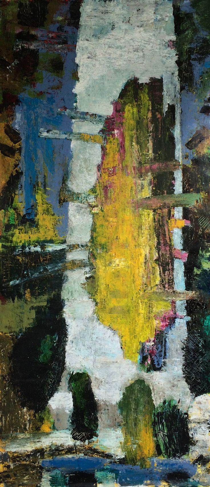 Kell Jarner, 2015. Akryl på lærred, 90 x 200 cm.