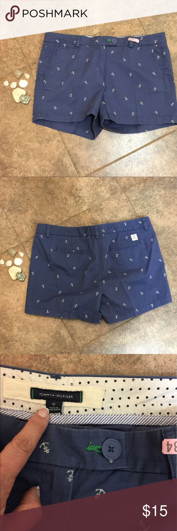 "Tommy Hilfiger Anchor Shorts Only worn 1x. Purchased for a cruise. So cute. . Approx measurements: waist L to R 17.5""; waist to bottom hem 13"".   I dry clean all my clothes and are all well taken care of. Unless otherwise stated all my items are new with or without tags.  Make an offer  or bundle  for more savings.  Smoke free pet loving home. Make a reasonable offer.  Keep in mind Posh Mark takes 20% from sellers when submitting offers  Tommy Hilfiger Shorts"
