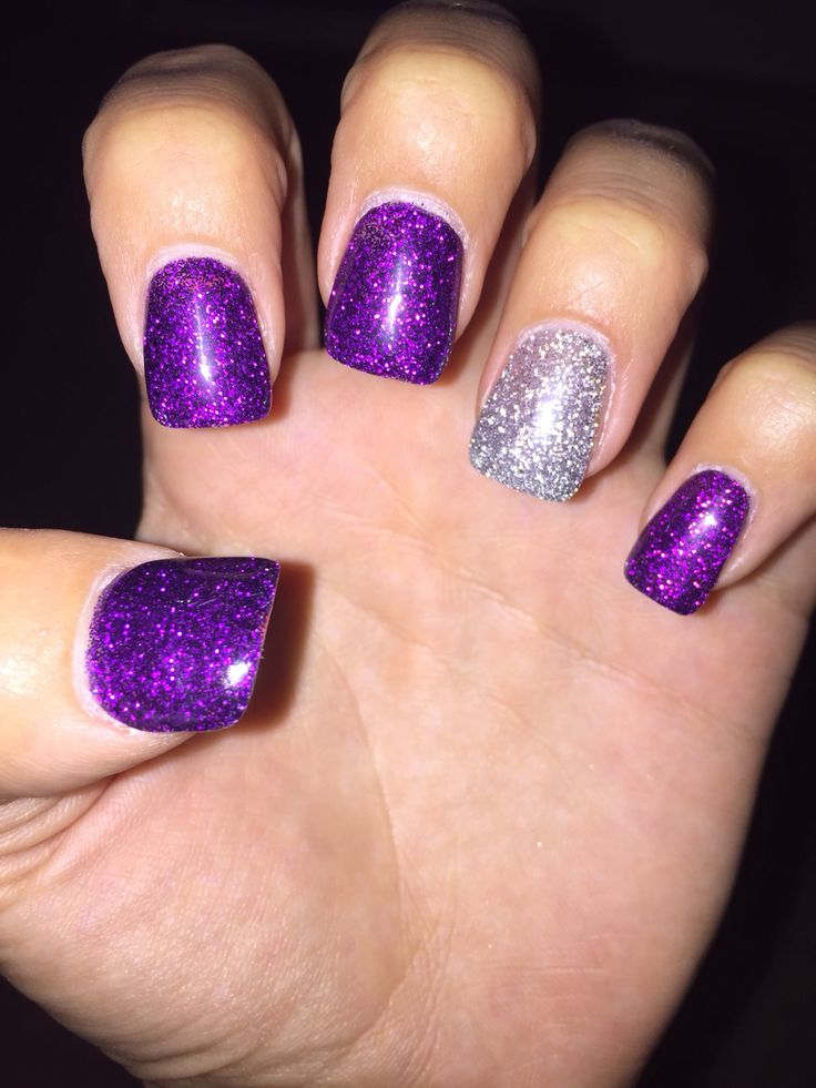 25 best ideas about purple acrylic nails on pinterest