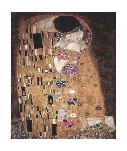 Strofinaccio da cucina canovaccio in cotone Quadri D'Autore - IL BACIO di Klimt