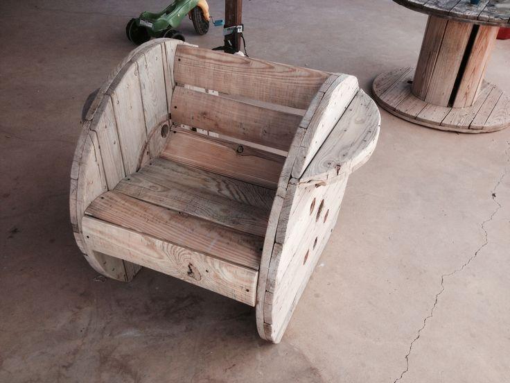 Spool chair good wood