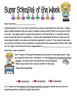 Doing this next year - Super Scientist of the Week...anybody want to join on the SKYPE fun?
