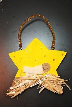 Kribbe knutselen met  kleuters/ Preschool+Christmas+Crafts+Jesus | Jesus nativity Christmas craft