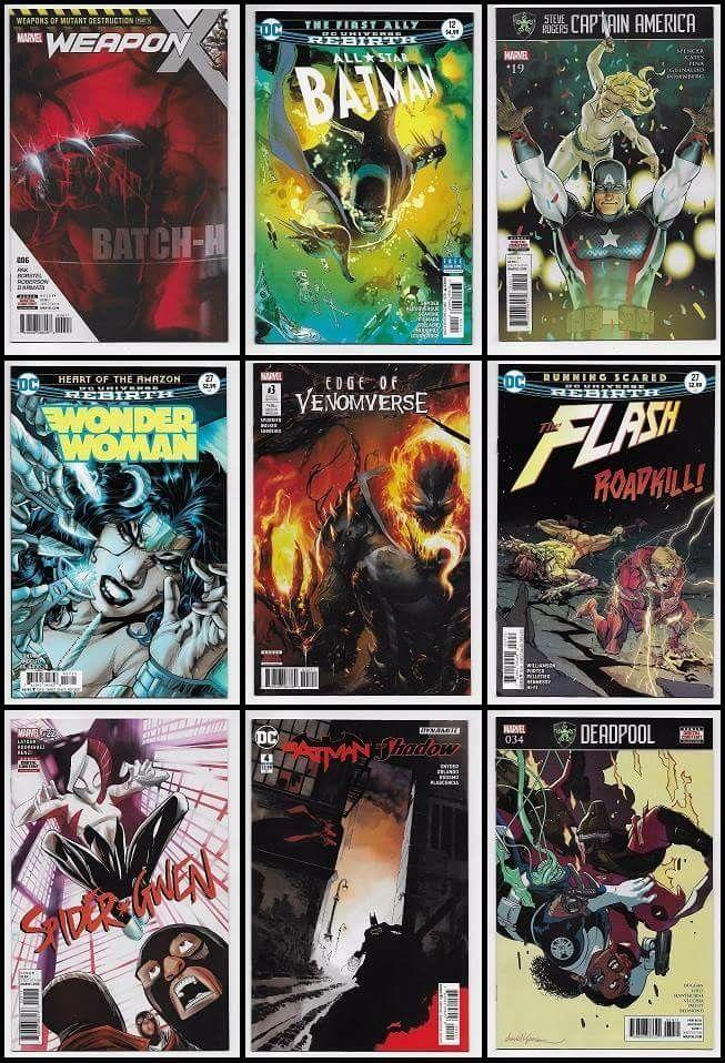 New for July 26th at imaginethatcomics.com http://stores.ebay.com/imaginethatcomics https://www.hipcomic.com/store/imagine-that-comics • New Release DC Comics - All Star Batman #12, Wonder Woman #27, Blue Beetle #11, Detective Comics #961, The Flash #27, Hellblazer #12, Teen Titans #10, Action Comics #984, Suicide Squad #22, Batgirl #13, JLA #11, Batman Beyond #10, Hal Jordan & Green Lantern Corps #25, Batman The Shadow #4, Doom Patrol #7 & Kamandi Challenge #7