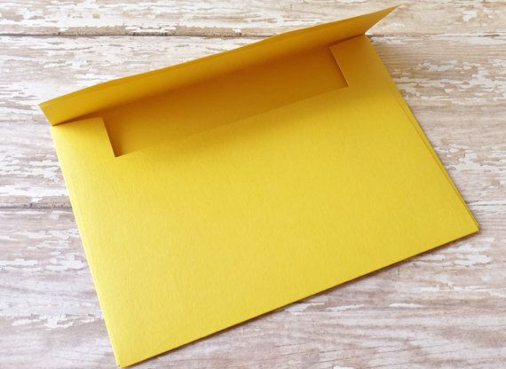 4x6 (A6) Solid Yellow Envelopes-Mailable-Set of 10-Birthdays, Showers, Weddings, Parties