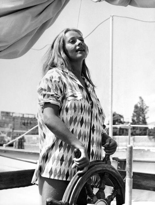 Jeanne Moreau à Venise le 3 septembre 1958