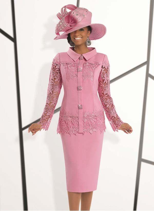 Donna Vinci 11497 Womens Elaborate Guipure Lace Suit