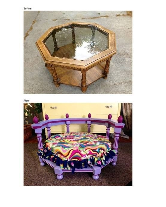 """Via""""Shed to hand"""" Collectables vintage - retro & antique wares From table to pet bed... Great upcycling"""