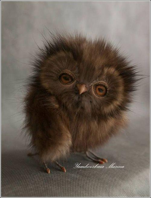 Owl doll by Marina Yamkovskaia.