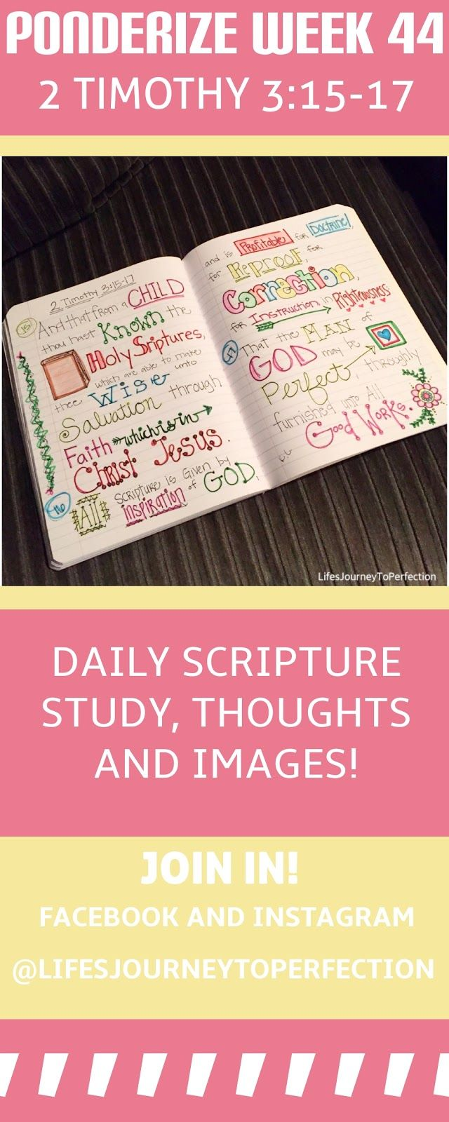 Ponderize Week 44: 2 Timothy 3:15–17 Scripture Study New Testament Scripture Mastery