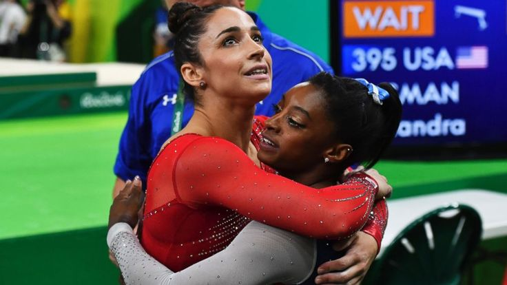 Simone Biles Soars to Gymnastics All-Around Gold -       The Latest on the Olympics in Rio de Janeiro (all times local):   12:50 p.m.   Matt Anderson and his U.S. men's volleyball teammates have stunne...