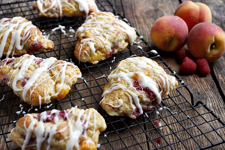 ... easy, and have the flavours of Peach Melba. Served with a sweet glaze