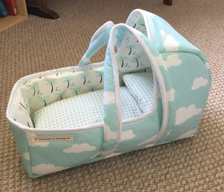 Baby doll carry cot. Pattern from danamadeit.com