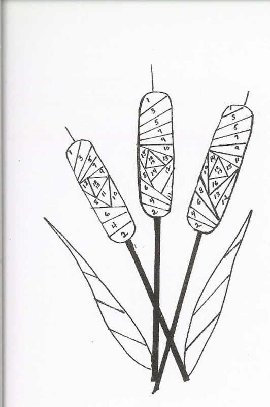 Iris Folding : Cattails pattern                                                                                                                            More