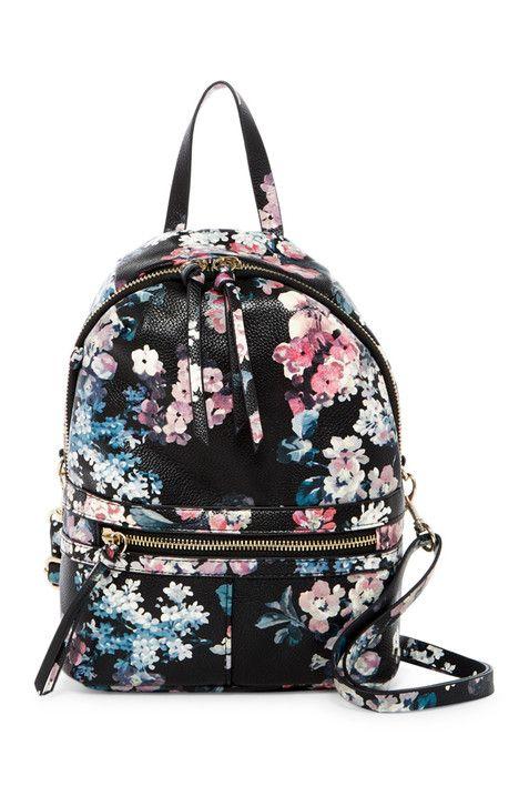 Mini Pretty Punk Floral Print Backpack