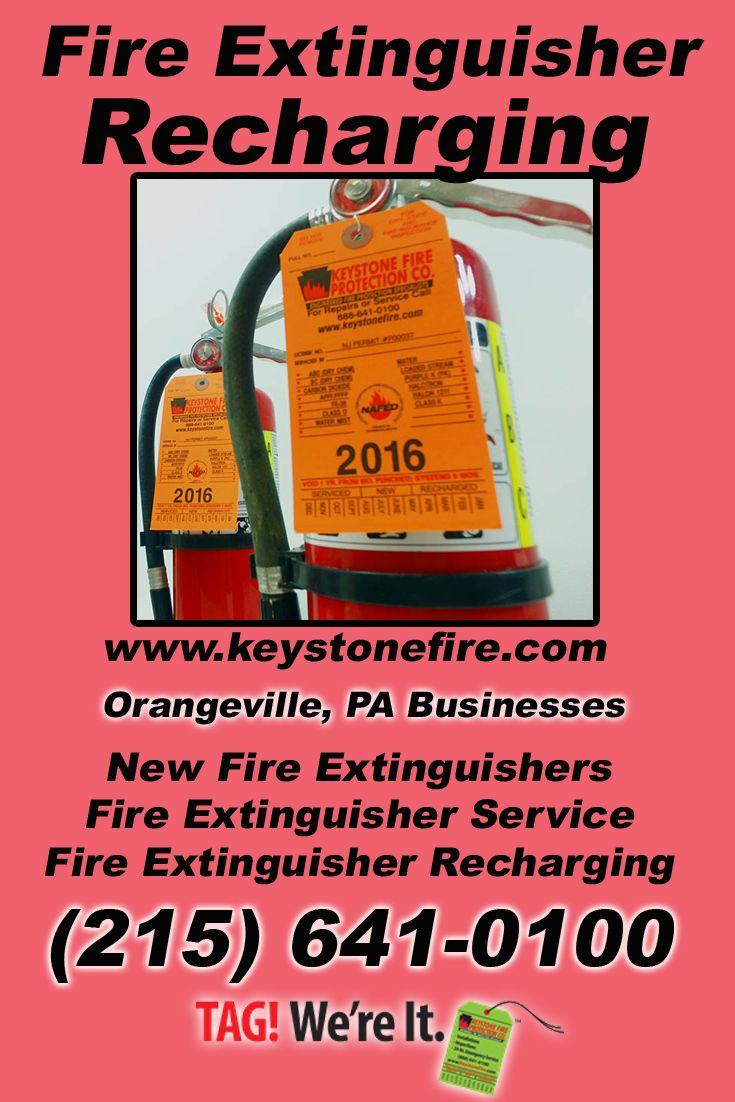 Fire extinguisher recharging orangeville pa 215 641