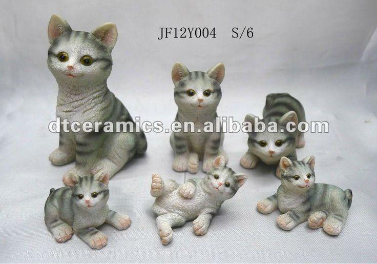 Кошка смолы фигурка для украшения-изображение-Ремесла из смола-ID продукта:571742663-russian.alibaba.com