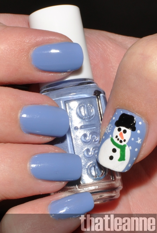 Snowman Nail Art How To! ~ perfect for winter / christmas