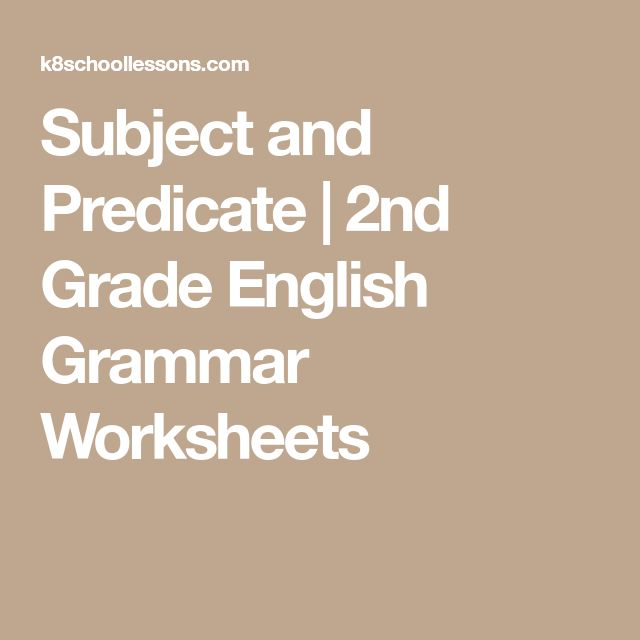 2nd grade grammar worksheets subjects