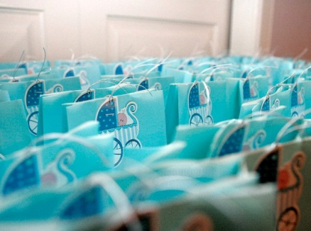 Lolly Buffet bags and baby boy tags