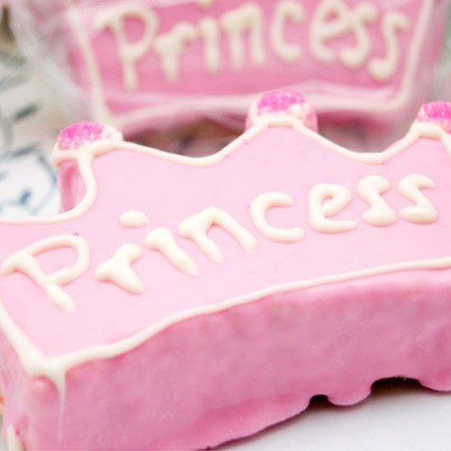 Personalized Pink Princess Crown Rice Krispy Treat by Beau-coup