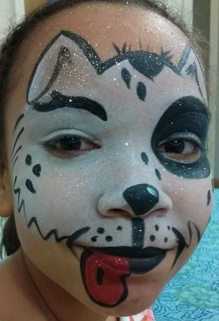 Dalmatian Dog Face Painted by J~Lee
